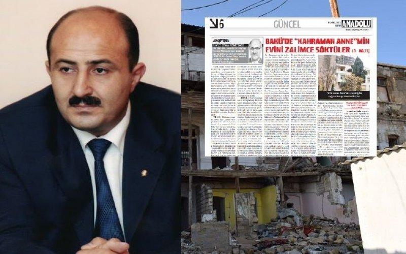 Nəsimi RİH başçısının əməlləri Türkiyə mətbuatında - Nələrdə ittiham olunur?