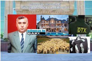 """Həbs olunan icra başçıları """"Səni deyirlər"""", Alı Alıyev-  Füzulinin icra başçısının milyonluq villaları, avtomobilləri, 30 min qoyunu, 5 min mal-qarası…"""