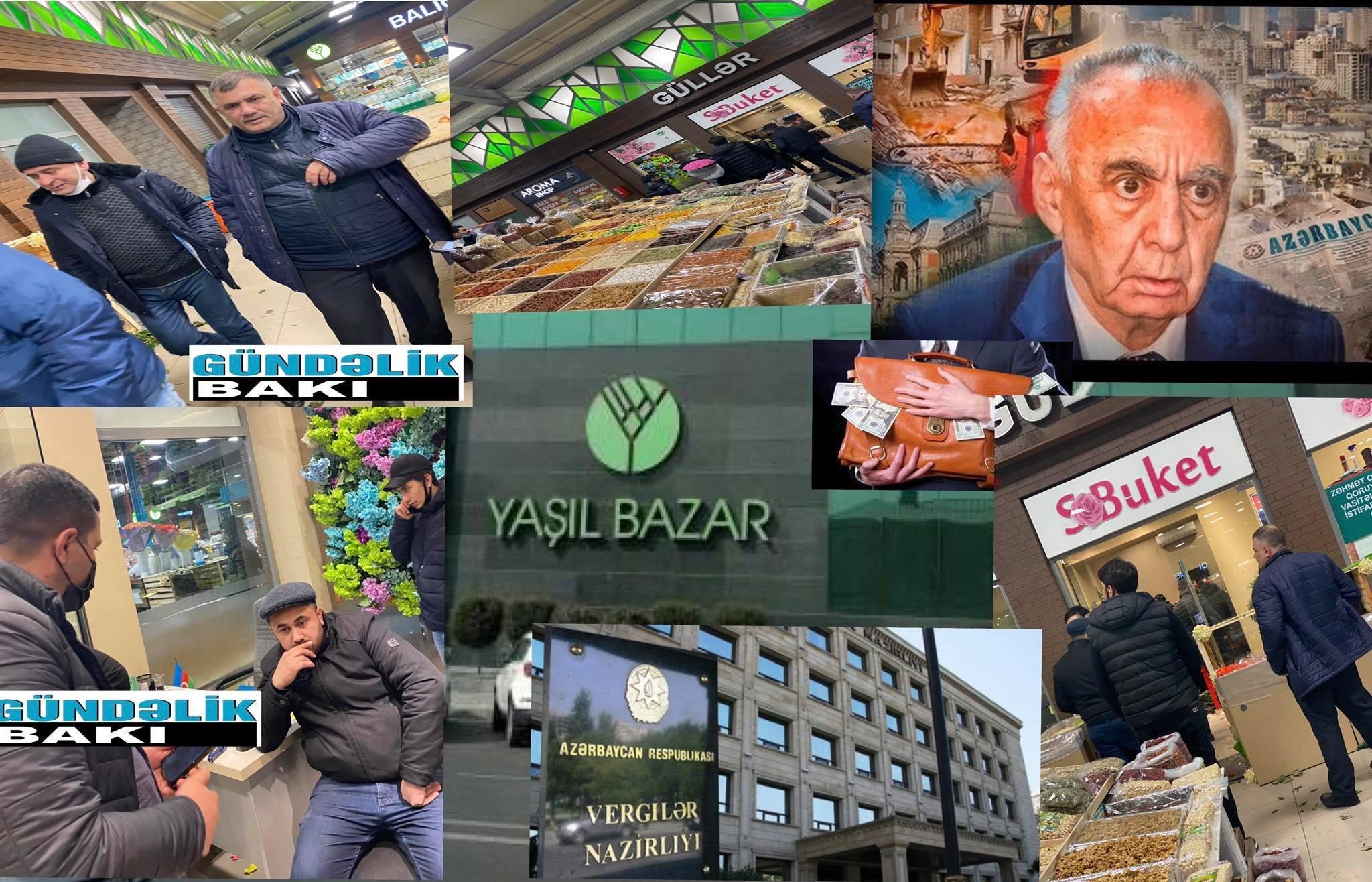 """""""Yaşıl Bazar""""da  8 martda od qiymətinə güllər-  Maska taxmayan dükan sahibləri vergidən necə yayınır ?"""