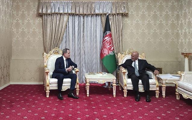 Ceyhun Bayramov Əfqanıstan Prezidenti ilə görüşdü - Foto