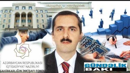Arif  Vəliəhmədov Sahibkarlığın İnkişafı Fondunun vəsaitlərini öz vəsaiti hesab edir.