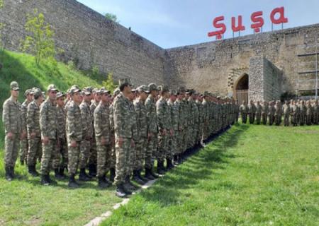 Şuşada hərbi parad keçirildi - VİDEO